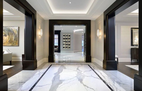 Indian marble slab flooring